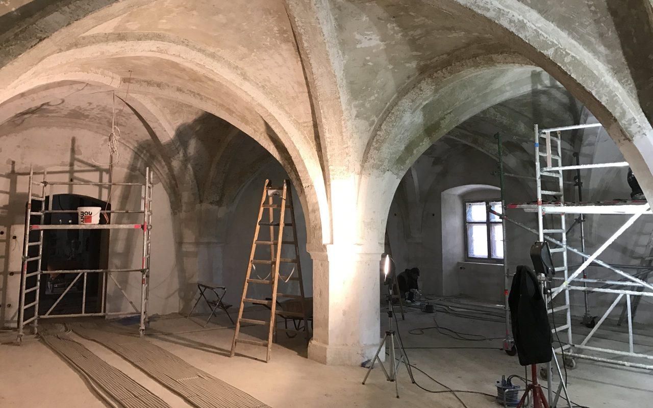 Zwischenstand der Baustelle Schloss Friedberg