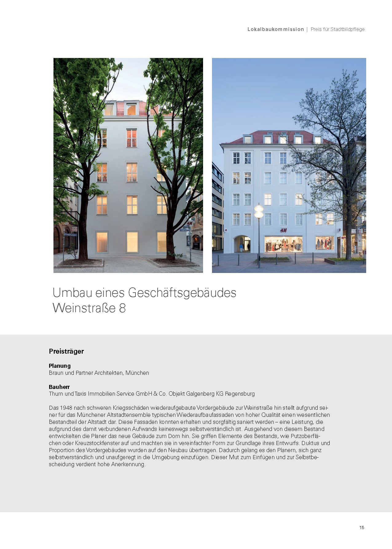 Fassadenpreis Und Preis Für Stadtbildpflege Braun Architekten