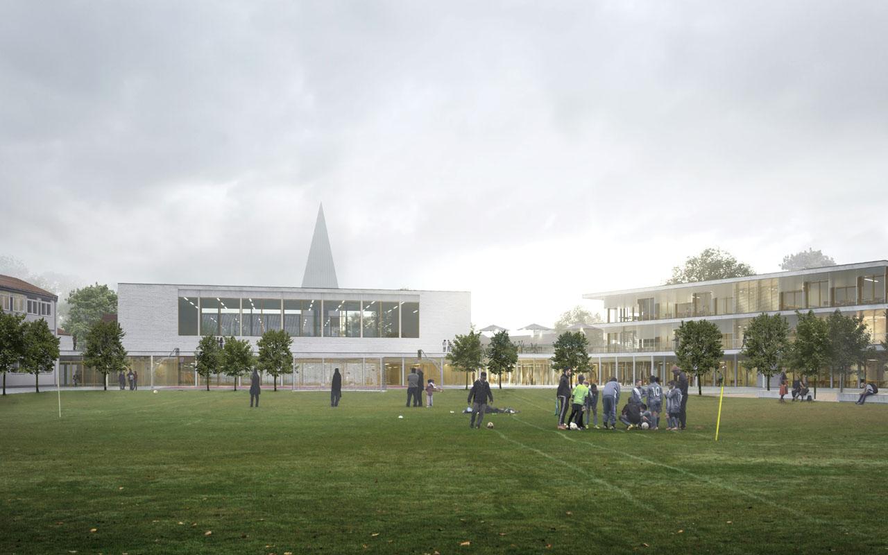 1. Platzierung Wettbewerb/ Planungsbeginn Grund- und Mittelschule Torquato- Tasso- Strasse